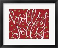 Framed Holly Jolly - Red