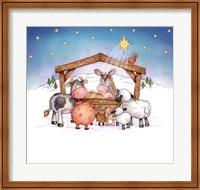 Framed Animal Nativity