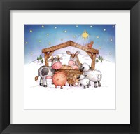Framed Animal Nativity