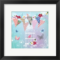 Framed Bird in Cage