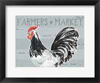 Framed Roosters Call I - No Dots