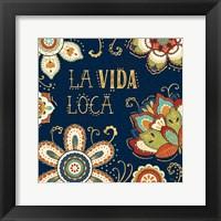 Framed La Vida Loca II Blue