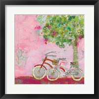 Framed Pink Bicycles