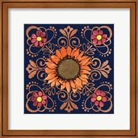 Framed October Garden VI Blue