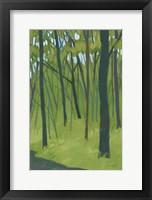 Framed Spring Woods Dark Green