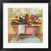 Framed Bathtub Bouquet II