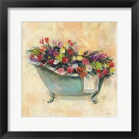 Framed Bathtub Bouquet I