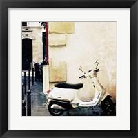 Framed Paris Vespa Color