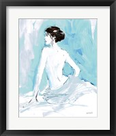 Framed Nude II Blue