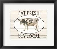 Framed Country Cow V