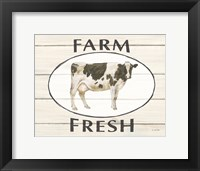 Framed Country Cow IV