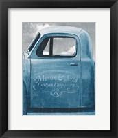 Framed Lets Go for a Ride II Vintage Blue