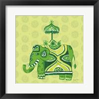 Framed Jeweled Elephant IV