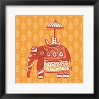 Framed Jeweled Elephant II