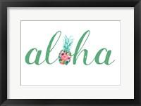 Framed Aloha Jade