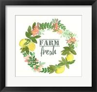 Framed Farm Fresh Wreath