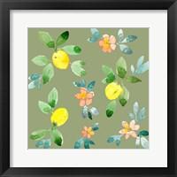 Framed Lemons - Olive
