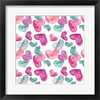 Framed Pink Hearts Pattern
