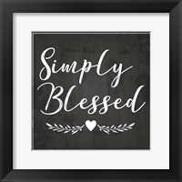 Framed Simply Blessed