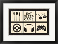 Framed Eat Sleep Game