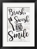 Framed Brush, Swish, Smile