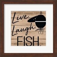 Framed Live Laugh Fish