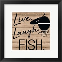 Framed Live Laugh Fish