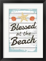 Framed Blessed at the Beach