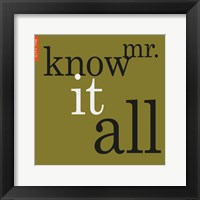 Framed Mr. Know It All