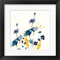 Framed Blue Floral