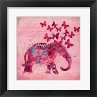 Framed Happy Elephant