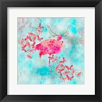 Framed Flamingo Flower