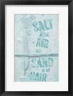Framed Salt in the Air