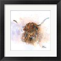 Framed Highland Cow
