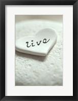 Framed Live Pebble Heart - Still Life