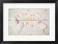 Framed Still Life Hearts - Love