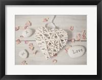 Framed Cosy Hearts