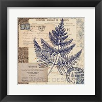 Framed Blue Fern Stamp