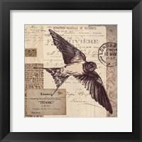 Framed Swallow Stamp