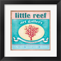 Framed Little Reef Seaside