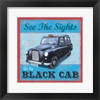 Framed Taxi Poster