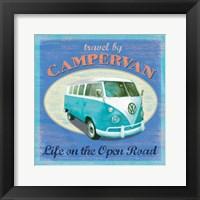 Framed VW Camper Poster