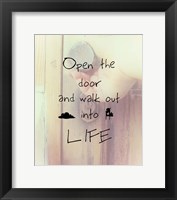 Framed Open the Door
