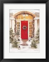 Framed Red Door Large