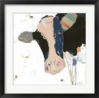 Framed Cow Art