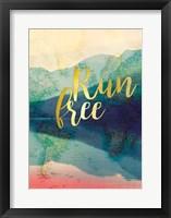 Framed Run Free
