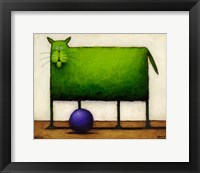 Framed Green Trouble I