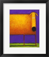 Framed Orange Dog I