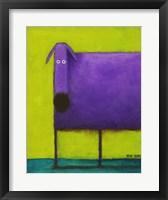 Framed Purple Dog I