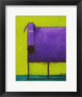 Framed Purple Dog I